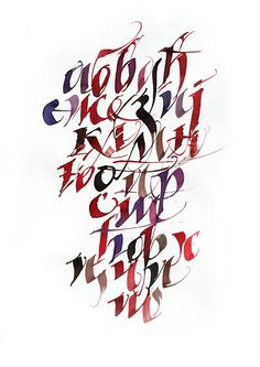 Modern calligraphy 2 by Dejan Petrovic, via Behance
