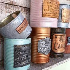 Clay Mold Appliques for Tin Can Planters: A Vintage Craft - Unique Balcony & Garden Decoration and Easy DIY Ideas Coffee Can Crafts, Tin Can Crafts, Aluminum Foil Crafts, Tin Can Art, Coffee Jars, Diy Crafts For Adults, Altered Bottles, Trash To Treasure, Rustic Wood Signs