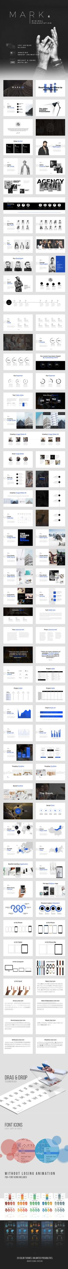 MARK06-Minimal Powerpoint Template. Download here: https://graphicriver.net/item/mark06minimal-powerpoint-template/17168654?ref=ksioks