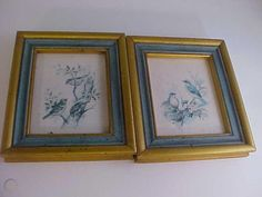 Birds in Tree by Paul Whitney Hunter 2 Gold & Blue Vintage Wood Framed Art Print Vintage Art Prints, Framed Art Prints, Bird Tree, Blue Wood, Vintage Wood, Birds, Paper, Bird