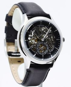 Fossil Men's Ansel Black Leather Watch