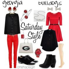 Saturday Style: Georgia Bulldogs & Texas Longhorns by Tarole Harris : Lucky Community. Help me get to 100 votes!