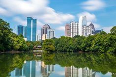 #PIEDMONTPARK, #ATLANTA Providing much-needed green between trendy Midtown and the Virginia Highlands neighborhood, Piedmont Park began in the 1800s as a gentleman's farm but was transformed by the Olmsted Brothers. Today the 211-acre park includes covered tennis facilities, a dock, and two playgrounds, among many other features.  Don't Miss: The thriving Education Garden, which teaches hundreds of children each year about natural and organic gardening methods.