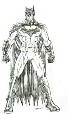 Interesting Bat-man drawing...