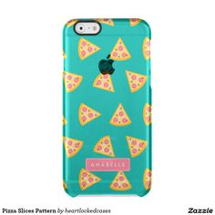 Pizza Slices Pattern Clear iPhone 6/6S Case