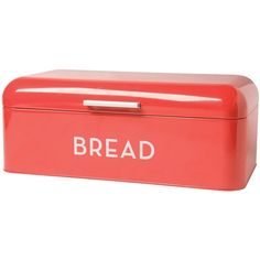 Now Designs Bread Bin, Red (160 RON) ❤ liked on Polyvore featuring home, kitchen & dining, food storage containers, red breadbox, red bread bin and red bread box