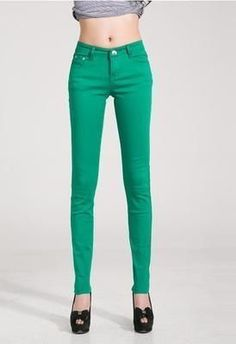 c8d3eac9c5 Candy Colors Pencil Skinny Jeans