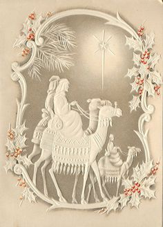 vintage Christmas  Following the star