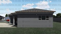 This Tuscan designed Single Storey 3 Bedroom House Plan Boasting Full Master Suite Including Walk-In Closet, 2 Standard Bedrooms, Bathroom, Open Plan living area Including Kitchen with Scullery, Double Garage and Covered Patio My Building, Building Plans, Bedroom House Plans, South Africa, Floor Plans, Flooring, How To Plan, Outdoor Decor, Home Decor
