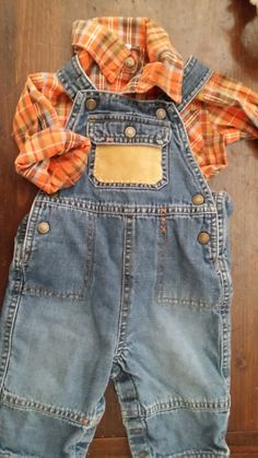 Baby Boy Overalls and Plaid Shirt by DeAnnaLynnChristian on Etsy, $25.00