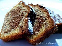 Drei-Schicht-Kuchen (Marmorkuchen mit Nüssen und Zimt)