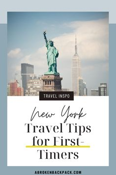 If you're visiting New York City for the first time, read these helpful tips.✔️ Learn about safety, areas to visit and more! #USA #NewYork New York Travel Guide, New York City Travel, Travel Tips, Packing List For Travel, Travel Guides, Visit New York City, Go To New York, Travel And Tourism, Travel Usa