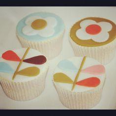 awesome! Orla Kiely cupcakes by Natasha Essex