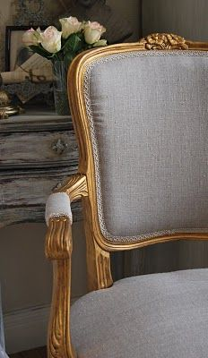 A haven uniquely ours; a personality reflecting in the interior Allow yourself to be embraced and inspired by my french style home French Sofa, French Chairs, Neoclassical Interior, French Style Homes, Cozy Chair, French Country Bedrooms, Grey And Gold, Take A Seat, Inspired Homes