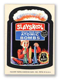 Wacky Packages Topps 15th Series: Slayskool