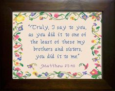 Adrian - Name Blessings Personalized Cross Stitch Design from Joyful Expressions Cross Stitch Charts, Cross Stitch Designs, Cross Stitch Patterns, Matthew 25, Favorite Bible Verses, Names With Meaning, Meaningful Gifts, Gifts For Family, Cross Stitching