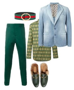 """Sundays Best"" by mh3914rp ❤ liked on Polyvore featuring Gucci, Givenchy, men's fashion and menswear"