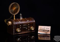 Steampunk Modern Tube Radio by Admiral Aaron Ravensdale from Steampunk Design. Picture by Thomas Clemens Photography. Great Inventions, Steampunk Design, Modern, Tube, Pictures, Photography, Work Shop Garage, Photos, Trendy Tree
