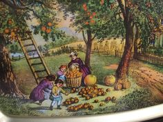 AMERICAN HOMESTEAD AUTUMN Currier & Ives by FindsandFurnishings, $14.00
