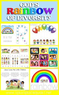 Rainbow of Diversity Printables {free}