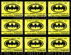 BATMAN Valentine's Day Cards Choose from 3 by PartiesandPastries, $8.00