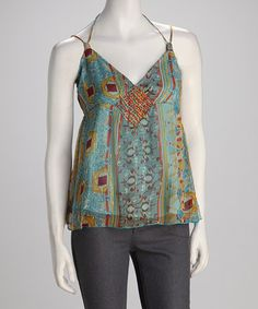 Take a look at this Blue Lace Top by Papillon Imports on #zulily today!