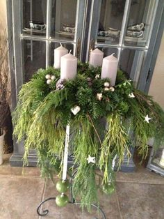 Christmas Flowers, Christmas Candles, Christmas Wreaths, Christmas Decorations, Xmas, Holiday Decor, Advent Wreaths, New Years Decorations, Table Decorations