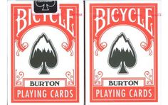 Bicycle Burton Playing Cards. Extremely Rare!!!