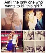 Guys , why would you want to kill her? We should be happy for her and for him, plus most of us he doesnt even know exist. There is no reason to kill her for having a really attractive boyfriend.