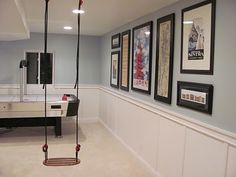 Love this basement...it even has a slide! Home Design Decor, House Design, Interior Design, Home Decor, Design Ideas, Basement Wall Colors, Basement Remodeling, Basement Ideas, Basement Inspiration