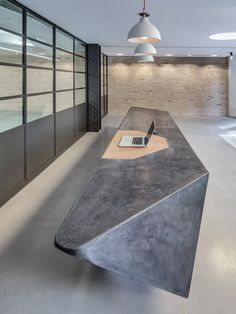 cast concrete reception desk - Google Search
