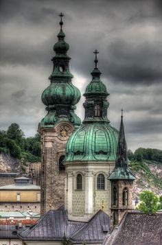 The Spires of St Peter's Archabbey - Salzburg, Austria