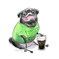 Forget kisses, give beer -- a St. Patrick's Day pug!