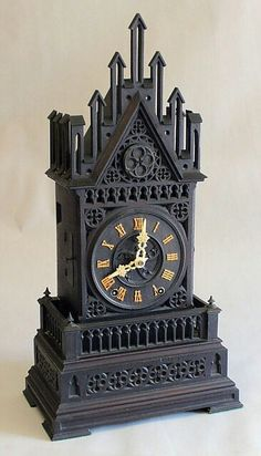 Gothic table clock