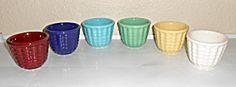 Franciscan Pottery Cocinero Set/6 Custard Cups!  MINT!
