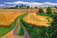 David Hockney Path Through Wheat Field. July 2005