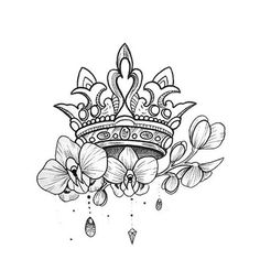 Davaena - Lilly is Love Girly Tattoos, Mini Tattoos, Body Art Tattoos, Sleeve Tattoos, Crown Tattoos For Women, Wrist Tattoos For Women, Back Tattoo Women, Smal Tattoo, Small Crown Tattoo