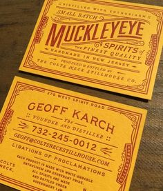 MuckleyEye business card by chadmichaelstudio