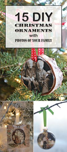 Decorate your Christmas tree with gorgeous ornaments with photos of your family and the people you love!