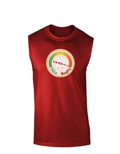 TooLoud Naughty or Nice Meter Naughty Dark Muscle Shirt