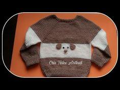 Blusa em Crochê Infantil Tamanho 2/3 Anos 1/2 Super Fácil - YouTube Crochet Baby Clothes Boy, Baby Girl Crochet, Crochet For Kids, Diy Crochet, Baby Girl Cardigans, Baby Sweaters, Baby Cardigan, Baby Staff, Pull Bebe