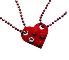 Red 2 piece customizable heart made from 2 от MademoiselleAlma
