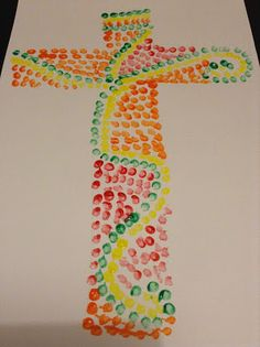 Flame: Creative Children's Ministry: Body of Christ Cotton Bud (Q-Tip) Painting
