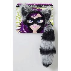 raccoon party ideas | raccoon ears and tail kit by the cloak of night this raccoon tail and ...
