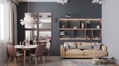 Grey decor inspiration in 4 different gray home interiors. Find grey furniture, warm grey paint colours & cosy lighting schemes to pull the whole look together. Paint Colors For Living Room, Living Room Grey, Living Room Kitchen, Home Decor Kitchen, Living Room Decor, Warm Gray Paint, Grey Interior Design, House Layout Plans, Relax