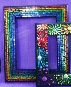 Part of my 'rainbow collection'.....Van Gogh glass by Tina @ Wise Crackin' Mosaics