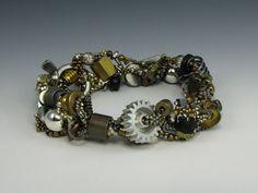 Beaded Bracelet 05 by April Moon Peacock at IndustrialDebris.com