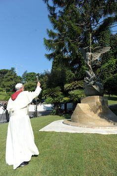 Pope Benedict XVI joins Pope Francis in consecrating Vatican to St Michael Archangel