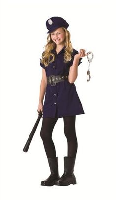 tween in the line of duty police costume by rg tween medium 14 16 - Girls Cop Halloween Costume