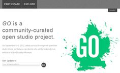 GO website - Exhibitions: GO: a community-curated open studio project